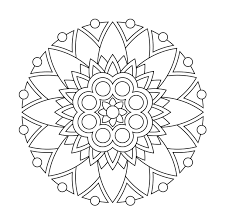 Easy Flower Coloring Pages For Adults With New Mandala Flower
