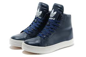 adidas shoes high tops for men. high class men adidas originals top leather shoes dark blue tops for