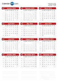 print a calendar 2019 2019 calendar