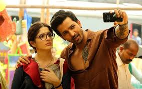 saraswati parthasarthy aka saru alongside indian actor harshvardhan rane as inder parihar who also marked his bollywood debut