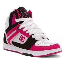 dc shoes girls. dc shoes stance hi white/black/crazy pink dc girls