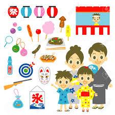 日本の夏祭りのイラスト素材ベクタ Image 30153466
