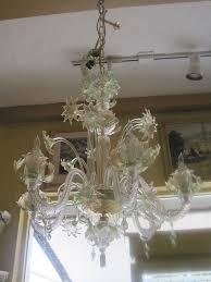 white light green venetian chandelier