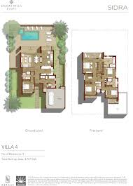 Sidra Villa 4: Ground Level and First Level