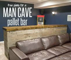 diy bar. Man Cave Wood Pallet Bar {Free DIY Plans} Diy E