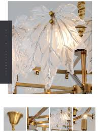 Leaf Light Fixture Fumat Hanging Light Fixture Frosted Glass Canada Maple Leaf Pendant Lamps Gold Plating Frame E14 Led Chandeliers Modern Decorate Cage Chandelier