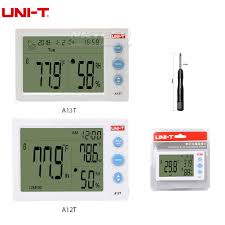 <b>UNI</b>-<b>T A12T</b> Weather Station <b>Digital</b> LCD Temperature Hygrometer ...
