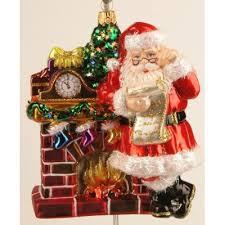 Christbaumschmuck Weihnachtsmann Am Kamin