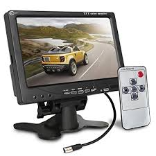 upgrade image reverse function esky inch tft lcd color  upgrade image reverse function esky 7 inch tft lcd color 2 video input car rear view monitor dvd vcr monitor remote and stand