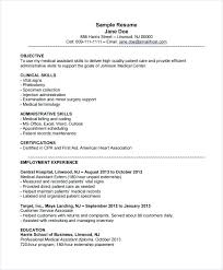 Resume Samples For Medical Assistant Medical Office Assistant Resume Example Registered Template Samples