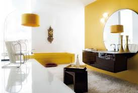 Yellow White Bathroom  Grasscloth Wallpaper - Yellow and white bathroom
