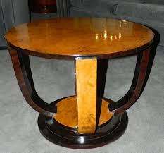two tone art deco round table