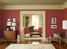 Red And Beige Living Room Crisp Coral Living Room Red Parrot 1308 Walls Guilford Green