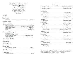 Colorful Ceremony Program Templates Crest Example Resume And Wedding