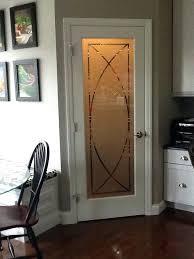 kitchen door glass painting designs interior doors with glass sandblasted glass sleek lines geometric shapes decor