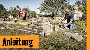 Trockenmauer Bauen Hornbach Meisterschmiede Youtube