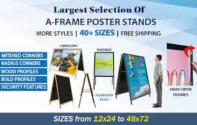 standard size posters a frame poster sign holders 40 sizes many frame styles at