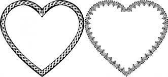 hearts vector ilration with clical decorative border