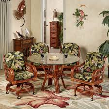 tropical dining room furniture. Simple Room Leikela Round Dining Table With Caster Chairs Wailea Coast Set Of Five Inside Tropical Room Furniture M