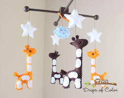 baby mobile  baby crib mobile  nursery giraffe mobile  safari