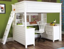 bunk bed with desk and drawers and trundle