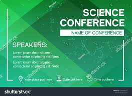 Meeting Flyer Design Science Conference Business Design Template Science Stock