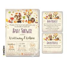 Fall Invitation Woodland Baby Shower Invitation Fall Invitation Fall Baby Shower Invitation Forest Animals Baby Shower Autumn Baby Digital Printed 340