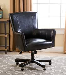 leather office. Jackson Black Leather Office Chair