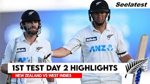 NZ vs WI 1st Test Day 2 Highlights ...