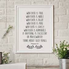 Bible Quote Impressive Bible Verse Print Christian Wall Decor Bible Quote Canvas Painting