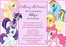 my little pony birthday invitations info my little pony birthday invitations