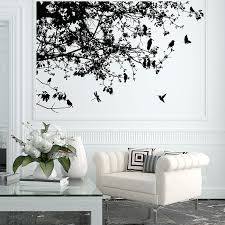 on vinyl wall art tree with tree branch with birds vinyl wall art decal