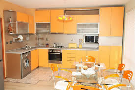 Orange Kitchens Kitchen Winsome Kitchen Design Ideas With White Wall Painting