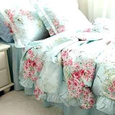 cabbage rose duvet set bedding more views roses sets blue purple cabbage rose duvet