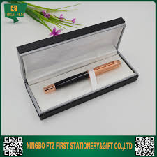 china factory coated paper pen gift box with loq moq