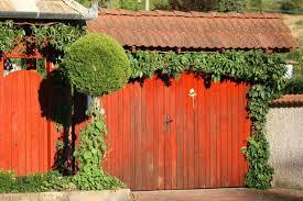 privacy fence design. Red Privacy Fence In Villa Design