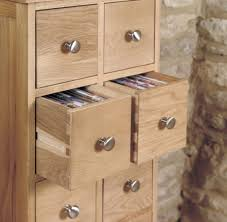 baumhaus mobel oak multi drawer cd and dvd storage chest with regard to cd