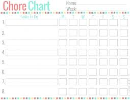 Printable Family Chore Chart Template Printable Work Schedule Template Charter School Near Chore Chart