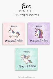 printable cards for birthday magical unicorn birthday cards free printable download