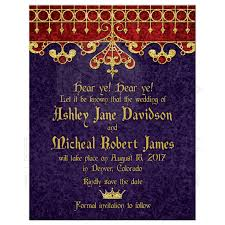 Red Save The Date Cards Purple Red Gold Royal Medieval Wedding Save The Date