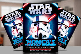 star wars template star wars party flyer template by tworlddesigns