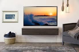 luxury floating wall mount tv stand gray t v lotus driftwood woodwafe mounted unit shelf desk bedside