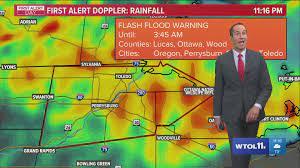 Flash flood warning for Ottawa, Lucas ...