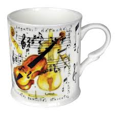 little snoring gifts bone china mug violin design