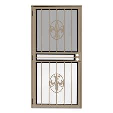 unique home designs 36 in x 80 in fleur de lis tan recessed mount