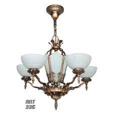 antique chandelier art antique red red bronzed finished art deco chandelier