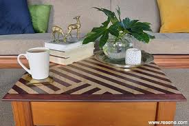 how to paint a stained coffee table