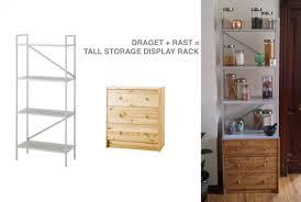 DRAGET+RAST= Tall Storage Display Unit