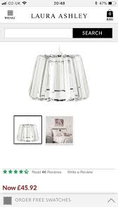 3 brand new laura ashley glass lampshades
