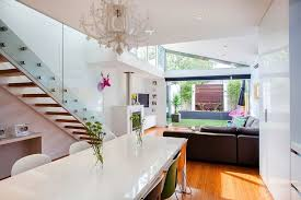 Traditional Victorian Home Transformed With A Glassy Modern Extension New Living Room Extensions Interior